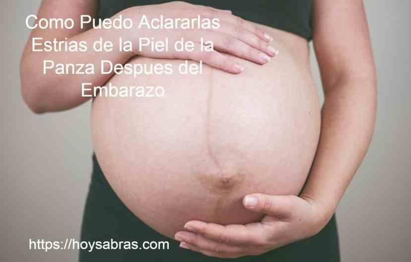 Estrias barriga despues embarazo